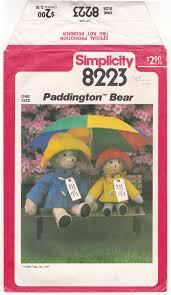 paddington clothes ff paddington pattern simplicity 8223 stuffed animal and