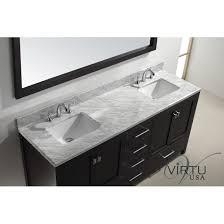 Virtu Bathroom Vanity by Virtu Usa Gd 50072 Wmsq Caroline Avenue 72 Double Square Sink