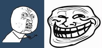 Rage Comic Meme Faces - list of synonyms and antonyms of the word internet troll meme faces