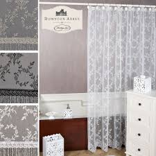 white lace shower curtains interior home design ideas