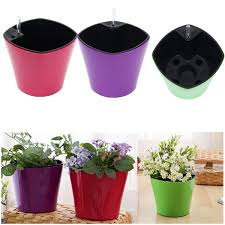 planter pot self watering drip plant pot watering system holder garden office