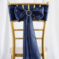 navy blue chair sashes 10 navy blue satin chair sashes ties bows wedding party reception