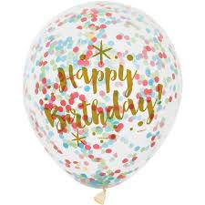 happy birthday balloon 12 glitzy rainbow happy birthday confetti balloons 6ct walmart