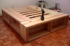 King Storage Platform Bed Plans To Build A Bed Frame With Drawers Creative Of Platform