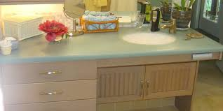 Bathroom Counter Cabinets by Accessible Bathroom Counters