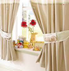 fabulous beige kitchen curtains and inch botom hem side hems