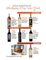 thanksgiving day wine guide wine sisterhood who wine
