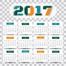 2017 calendar template psd elegant happy new month vectors photos