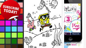 sponge bob and patrick star coloring book catching a jellyfish