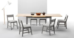 kleur extendable dining table pine and grey made com