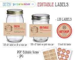 editable printable jar labels template jar labels free label templates business mason small 41