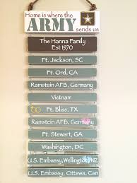 army home decor army father u0027s day gift customized duty station sign wooden hand
