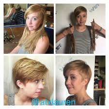 before and after pixie cut so cute on her hair pinterest