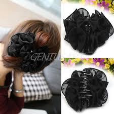 claw clip charming chiffon flower bow claw clip cl womens hair