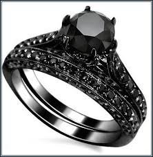 black wedding rings his and hers black wedding rings for wedding corners