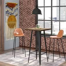 trent austin design kori loft black pub table u0026 reviews wayfair