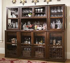 Modular Bar Cabinet Saxton Glass Door Cabinet Tuscan Chestnut Stain Bar Diy