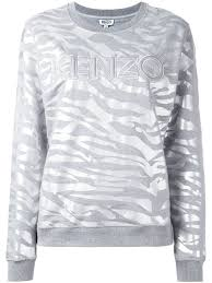 kenzo tiger stripes sweatshirt in grey wheretoget