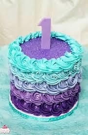 purple teal birthday cake makenna u0027s 1st birthday
