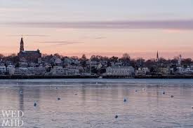 American Flag Sunset The Sun Marblehead And The American Flag Marblehead Ma