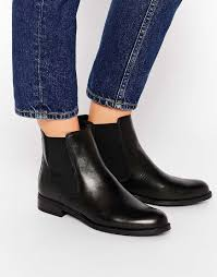 canada s ankle boots shoes dune parry black leather chelsea flat ankle boots