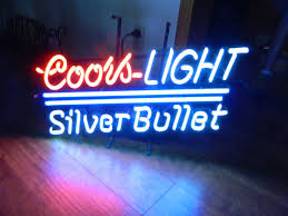 vintage coors light neon sign old coors light silver bullet neon sign full size pick up only