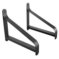 Bookcase Shelf Brackets Amazon Com Artifactdesign Metal Shelf Brackets With Modern Heavy
