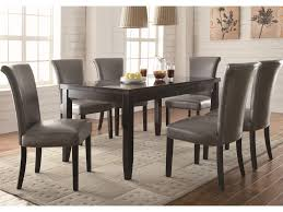 coaster newbridge 7 piece dining table u0026 chair set dunk u0026 bright