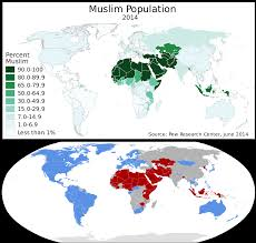 Blank Map Of Afro Eurasia by Map Of Muslim Population Compared To Map Of Countries Which Signed