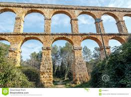 devil u0027s bridge roman aqueduct built near tarragona stock photo
