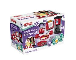 Toy Kitchen Set Food Amazon Com Casdon Little Cook Morphy Richards Kitchen Set Toys