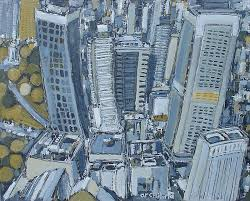 in the city painting by australian artist