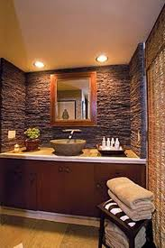 guest bathroom ideas rustic style with wooden vanity cabinet and