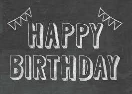 birthday chalkboard happy birthday chalkboard card by scissor monkeys