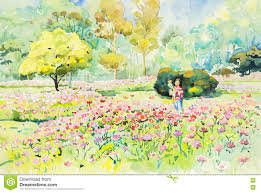 Image Flower Garden by Flower Garden Painting Home Design Ideas And Pictures