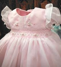 will u0027beth pink sheer overlay smocked dress baby girls pearls