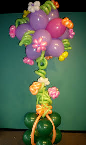 island balloon delivery 7 balloon bouquet with twisting balloon flowers and beautiful
