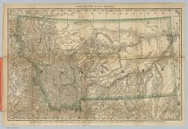 Montana Map Cities by Montana David Rumsey Historical Map Collection
