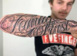 devoted with family on forearms memorial