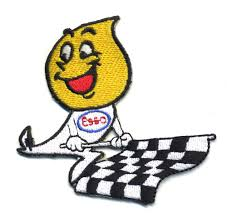 Flag Emoticons Esso Drip Patch Badge Motor Oil Rod Drag Race Checkered Flag
