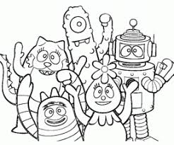 yo gabba gabba coloring contest win tickets macaroni kid
