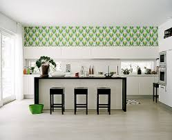 Wallpaper For Kitchen Backsplash by Make Kitchen Modification With Retro Kitchen Wallpaper Designs