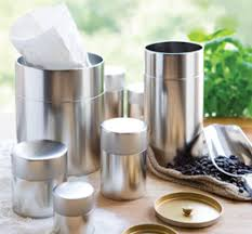 silver tin canister kotodo can tea tins coffee canisters