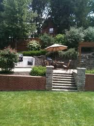 Sloping Garden Ideas Photos 76 Best Sloping Gardens Images On Pinterest Sloped Backyard