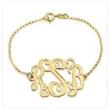 Gold Monogram Bracelet Monogram Bracelets