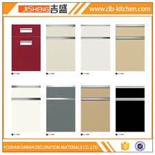 Petg Membrane High Gloss Kitchen Cabinet Door Roller Shutter For - High gloss kitchen cabinet doors