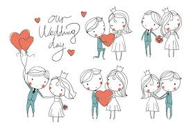 Groom To Bride Wedding Card Wedding Card Bride And Groom Illustrations Creative Market