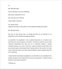 Sample Job Application Resume by Sample Cover Letter Example For Job 13 Download Free Documents
