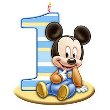 mickey mouse 1st birthday edible frosting image cake topper 1 4