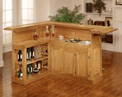free standing bar cabinet l shaped bar counter with classic unfinished wood bar cabinet